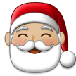 Santa Claus: Medium-Light Skin Tone on Samsung One UI 1.5