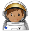 Man Astronaut: Medium Skin Tone on Samsung One UI 1.5