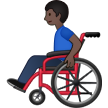 Man in Manual Wheelchair: Dark Skin Tone on Samsung One UI 1.5