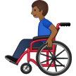 Man in Manual Wheelchair: Medium-Dark Skin Tone on Samsung One UI 1.5