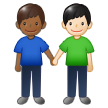 Men Holding Hands: Medium-Dark Skin Tone, Light Skin Tone on Samsung One UI 1.5