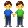 Men Holding Hands on Samsung One UI 1.5