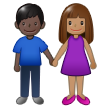 Woman and Man Holding Hands: Medium Skin Tone, Dark Skin Tone on Samsung One UI 1.5