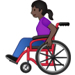 Woman in Manual Wheelchair: Dark Skin Tone on Samsung One UI 1.5