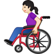 Woman in Manual Wheelchair: Light Skin Tone on Samsung One UI 1.5