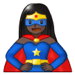 Woman Superhero: Dark Skin Tone on Samsung One UI 1.5