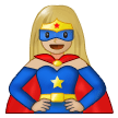 Woman Superhero: Medium-Light Skin Tone on Samsung One UI 1.5