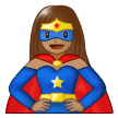 Woman Superhero: Medium Skin Tone on Samsung One UI 1.5
