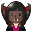 Woman Vampire: Dark Skin Tone on Samsung One UI 1.5