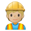 Construction Worker: Medium-Light Skin Tone on Samsung One UI 2.5