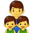 Family: Man, Boy, Boy on Samsung One UI 2.5