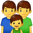 Family: Man, Man, Boy on Samsung One UI 2.5
