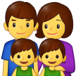 Family: Man, Woman, Boy, Boy on Samsung One UI 2.5