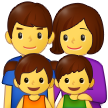Family: Man, Woman, Girl, Boy on Samsung One UI 2.5