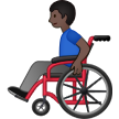 Man in Manual Wheelchair: Dark Skin Tone on Samsung One UI 2.5