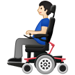 Man in Motorized Wheelchair: Light Skin Tone on Samsung One UI 2.5