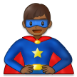 Man Superhero: Medium-Dark Skin Tone on Samsung One UI 2.5