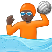Person Playing Water Polo: Dark Skin Tone on Samsung One UI 2.5
