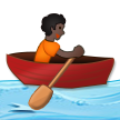 Person Rowing Boat: Dark Skin Tone on Samsung One UI 2.5