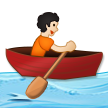 Person Rowing Boat: Light Skin Tone on Samsung One UI 2.5