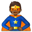 Superhero: Medium-Dark Skin Tone on Samsung One UI 2.5