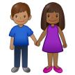 Woman and Man Holding Hands: Medium-Dark Skin Tone, Medium Skin Tone on Samsung One UI 2.5
