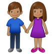 Woman and Man Holding Hands: Medium Skin Tone on Samsung One UI 2.5