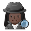 Woman Detective: Dark Skin Tone on Samsung One UI 2.5