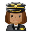 Woman Pilot: Medium Skin Tone on Samsung One UI 2.5