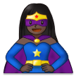 Woman Superhero: Dark Skin Tone on Samsung One UI 2.5