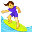 Woman Surfing on Samsung One UI 2.5