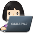 Woman Technologist: Light Skin Tone on Samsung One UI 2.5