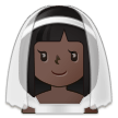 Woman with Veil: Dark Skin Tone on Samsung One UI 2.5