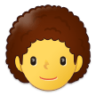Person: Curly Hair on Samsung One UI 3.1.1