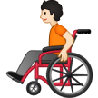 Person in Manual Wheelchair: Light Skin Tone on Samsung One UI 3.1.1