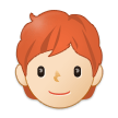 Person: Light Skin Tone, Red Hair on Samsung One UI 3.1.1