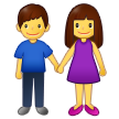 Woman and Man Holding Hands on Samsung One UI 3.1.1