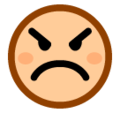 Angry Face on SoftBank 2014