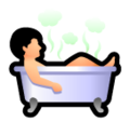 Person Taking Bath on SoftBank 2014