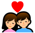 Couple with Heart on SoftBank 2014