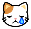Crying Cat Face on SoftBank 2014