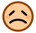 Disappointed Face on SoftBank 2014