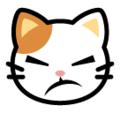 Pouting Cat Face on SoftBank 2014