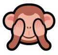 See-No-Evil Monkey on SoftBank 2014