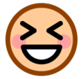Grinning Squinting Face on SoftBank 2014