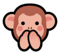 Speak-No-Evil Monkey on SoftBank 2014