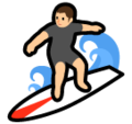 Person Surfing on SoftBank 2014