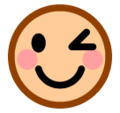 Winking Face on SoftBank 2014