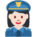 Woman Police Officer: Light Skin Tone on Twitter Twemoji 11.1