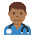 Man Health Worker: Medium-Dark Skin Tone on Twitter Twemoji 11.1